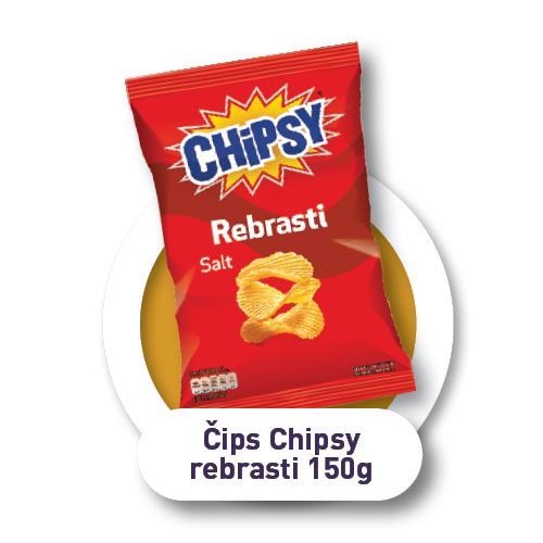 Čips Chipsy rebrasti / 150g