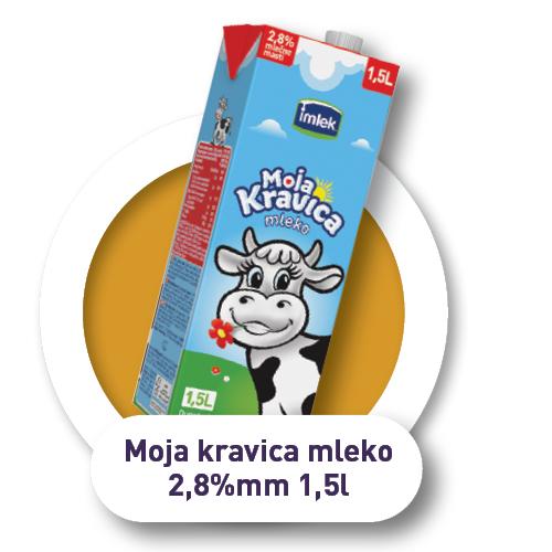 Moja kravica mleko / 2.8%mm / 1.5l