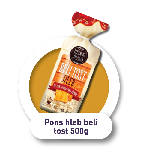 Pons hleb beli tost / 500g