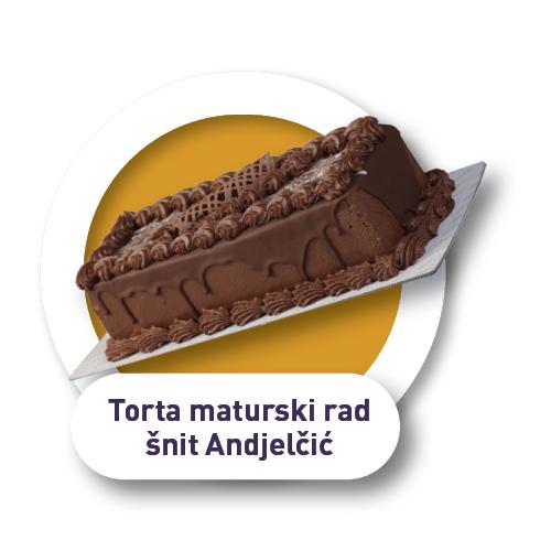 Torta maturski rad šnit Anđelčić